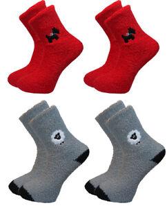 Ladies 4pk Fleecey Scotty Dog and Baaaaa Sheep Socks Warm Comfortable Value Deal