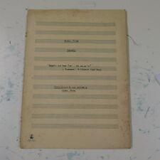 arthur milner HOBGOBLIN , harpsichord manuscript dated 1959