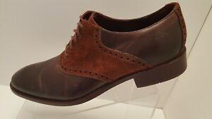 Cole Haan Colton Men's Burgundy Leather Saddle Suede Lace Up Shoes Size US 10 M