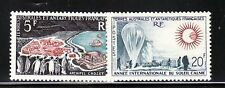 French Southern & Antarctic Territory Sc 23-4 NH 1963 - Quiet Sun Year Sc$145