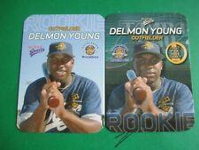DELMON YOUNG -  Charleston Riverdogs 10 card set 2003 #/1000