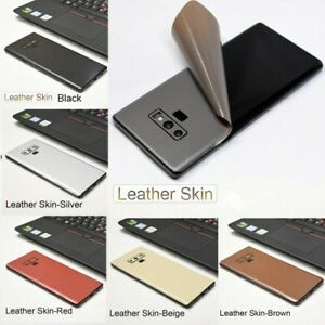 For Samsung Galaxy Note 9 8 S9 S8 Plus S10 Carbon Fiber Leather Skin Sticker new