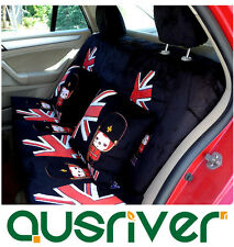New 22pc Universal Car Seat Cover Accessories Full Set Black Cartoon England Ali