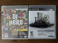 USED (games only) DJ Hero and DJ Hero 2 Bundle (Sony PlayStation 3, PS3)