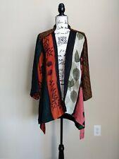 Citron Santa Monica open front silk blend kimono style top size M