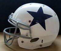 Dallas Cowboys NFL Locker Room No Name & No Number Throwback Helmet (Large)