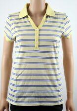 Tommy Hilfiger Golf Yellow Stripe Polo Shirt - M