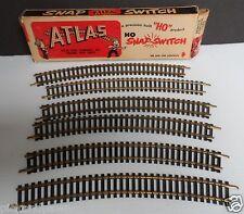 "Vintage Atlas HO ""Snap-Switch"" Scale Track Six Pieces Original Box USA"
