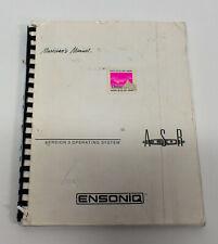 Ensoniq ASR 10 Sampling Keyboard Version 3 Operating System Manual