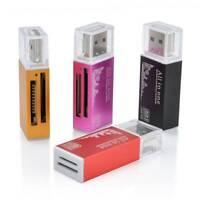 Mini Micro SD SDHC TF M2 MMC MS PRO DUO USB 2.0 Multi Memory Card Reader Adapter