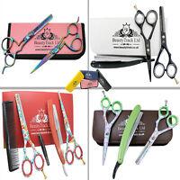 "5.5"" Barber Hair Cutting Thinning Scissors Shears Set Hairdressing Salon Holster"
