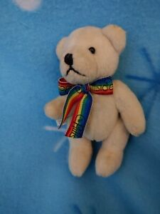 """Annette Funicello Bear With Rainbow Ribbon Says """"Hillside Home For Children"""""""