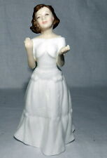 """Gorgeous Royal Doulton """"Welcome""""Petite Lady Figurine Made In England 5 3/4"""" Ta 00006000 Ll"""