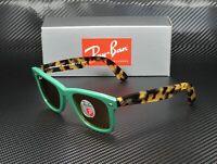 RAY BAN RB2140 1240N9 Wayfarer Green Yellow Polarized 50 mm Unisex Sunglasses