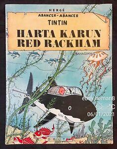 1978 Harta Karun Red Rackham's Treasure Malay Tintin comics Asian Malaysia Delta