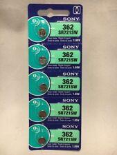 5 Pcs 362 Sony Mercury Free Silver Oxide Watch Batteries SR721SW 1.55V