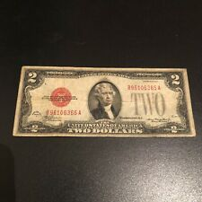1928 G $2 RED SEAL Old TWO DOLLAR Bill U.S. Currency OUTSTANDING @ NO RESERVE!!