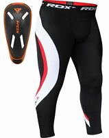 RDX Mens Compression Pants Tights Workout Fitness Running Base Layers Skins MMA