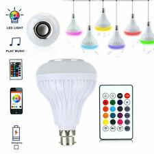 12W E27 LED RGB Bulb Light Bluetooth Speaker Wireless Music Smart Lamp +Remote