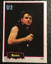 Bono Sticker 1997 Argentina International Rock Cards #185 U2 Rockstar Rare Item