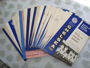Full set of Chelsea 1965-66 home programmes - 31 programmes in all