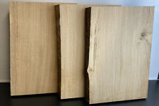 3 x Waney / Live Edge European Oak Boards 410x285 - 45mm Thick Sanded Surfaces