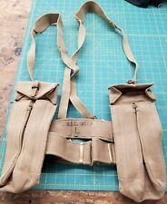 British Military Combat Belt and 2 Pouch Set-khaki