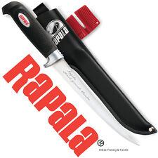 """Rapala Soft Grip 9"""" Fillet Knife with Sheath & Sharpener Fish Filleting Knives"""
