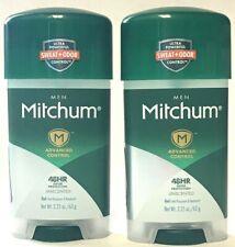 2 Mitchum Men Advanced Control 48HR Odor Protection Unscented Gel 2.25 oz