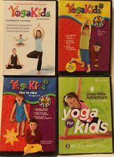 4 Yoga Kids Gaiam workout exercise fitness Dvd lot dino-mite adventure abc's