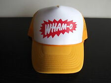 Trowback Foam Front WHAM-O Orange Logo Trucker Mesh Ball Cap Hat RARE NOS