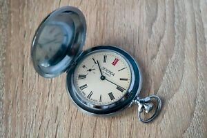 Vintage mechanical pocket watch SEKONDA in mint condition, MOLNIJA made in USSR