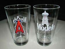 (2) New Modelo Especial Cerveza Angels Baseball Mlb Beer Pint Glass Bar Pub