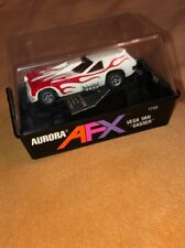 AURORA MODEL MOTORING AFX VEGA VAN GASSER. RED FLAMES. USED CONDITION WITH BOX!