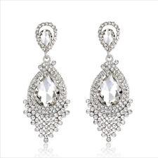 Vegas Dangle Clear Austrian Rhinestone Chandelier Earring Bridal Prom Pageant E5
