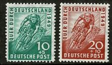 GERMANY OCCUPATION ISSUES 1949 TRANS GERMANY CYCLE RACE SET 2 MINT NEVER HINGED