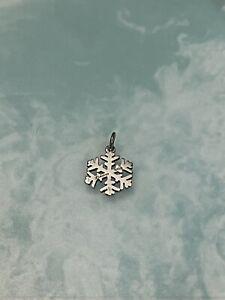 "James Avery Sterling Silver 1/2"" Snowflake Charm Pendant"