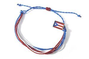 handmade friendship bracelets Puerto Rico flag unisex