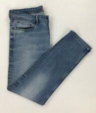 Men's Light Blue Wash Boss Hugo Boss Jeans W34 L29 Orange 90 Slim Fit Stretch B