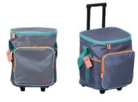 Picnic JUMBO Cooler Bag Trolley On Wheels 25L Insulated BBQ Beverage Reusable AU