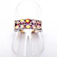 Ringe Echtschmuck mit Opal-Hauptstein und Cabochon-Schliffform für Damen
