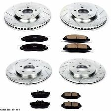 Power Stop K1381 Front & Rear Drilled & Slotted Rotors & Z16 Ceramic Brake Pads