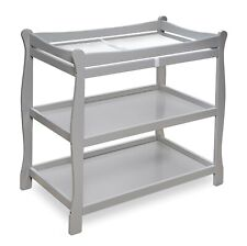 Baby Infant Newborn Sleigh Style Changing Table For Nursery Gray Grey New