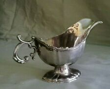 Vintage Silver Plated Gravy Boat Sauce Bowl beaded design