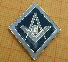 Masonic Lapel Pin Badge Enamel Square Compasses + G (17