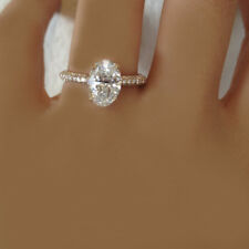Diamond Engagement Ring Oval Cut Diamond 3.10 Carat GIA Certified 18k Gold