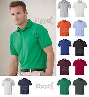 Hanes Mens Golf Tee Blended Jersey Polo Sport Golf Shirt 054X S-6XL NEW