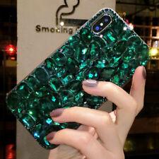 Glitter Rhinestones Jewelled Bling Diamonds Soft TPU back Case Phone Cover #A