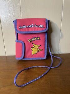 Vintage Pokemon Pikachu Nintendo Game Boy Carry Case 90s Embroidered Logo