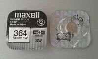 Pila MAXELL 364 - SR621SW - Silver Oxide - Made In Japan - Original -